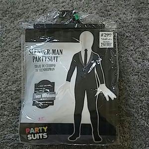 Party Suits Slender-Man partysuit Kids Costume